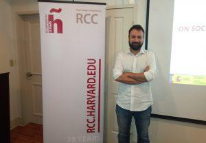 Nuestro docente, Francisco José García Ull, acaba de venir del seminario de Harvard