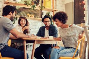 empleados felices, resultados positivos