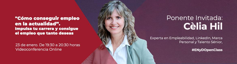 Aprende a impulsar tu carrera a través de la openclass de la experta en marca personal, Celia Hil