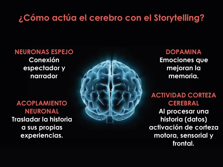 Cómo actua el cerebro con el storytelling