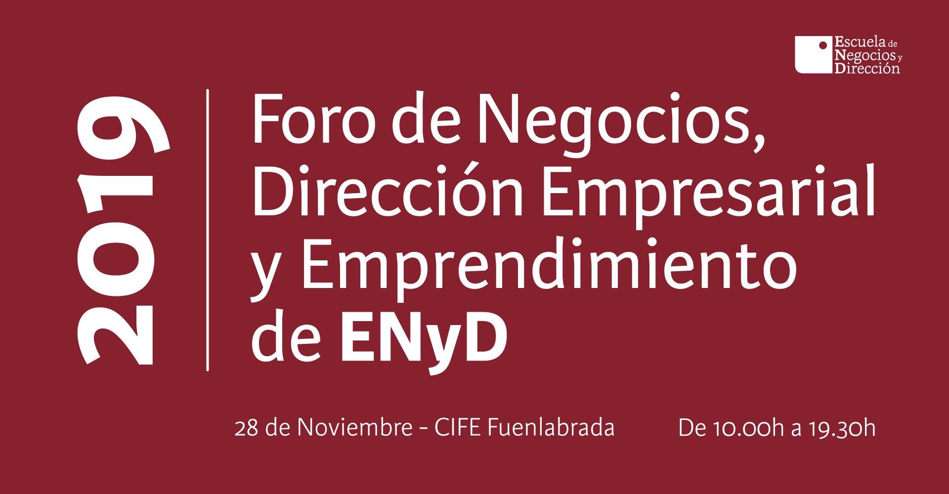 Evento de emprendimiento de ENyD